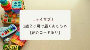 【1歳2ヶ月】トイサブ!総額2万円以上、実際に届いたおもちゃは?